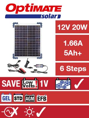 Optimate Solar 12V 20W