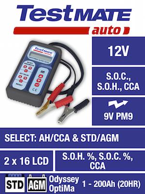 Testmate Auto akkumulátor ellenőrző műszer